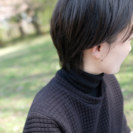 Kazenami Silver Ear Cuff (S)