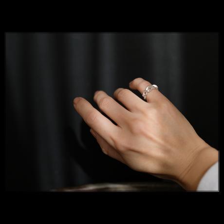 Kazenami Silver  Pinky Ring