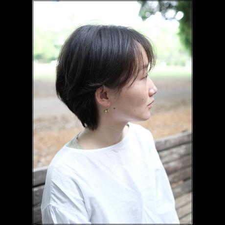 ヤマノイモのタネ S brass pierce (片耳)