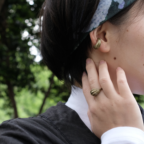 Asatsuki Brass Ear Cuff(M)