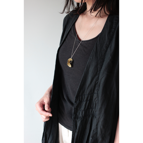 pump (L) brass necklace -aborigine-