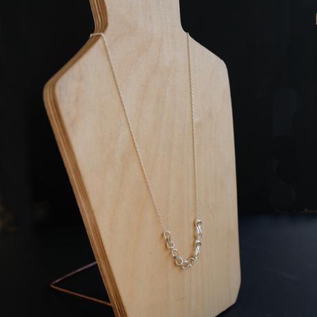 Black moor (S) 5 piece Silver Necklace