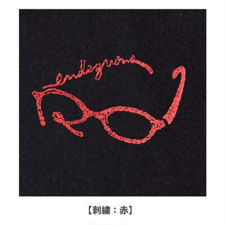 rendezvous メガネ刺繍Tシャツ(ブラック)
