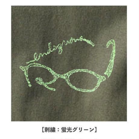 rendezvous メガネ刺繍Tシャツ(オリーブ)