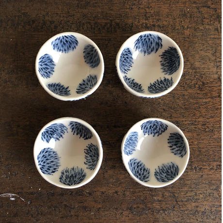 染付 竹文 豆鉢