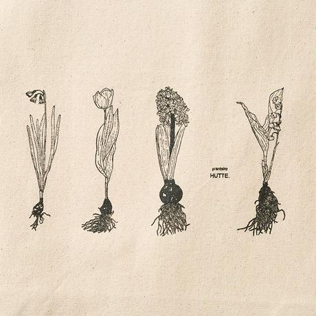 【HUTTE. × つくりら】トートバッグ 球根の植物たち/ Lサイズ