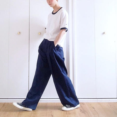 Tuck  wide  pants No.9182301