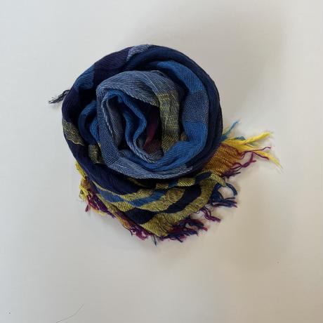 tamaki niime  roots shawl BIG . cotton   G.パープル×イエロー系