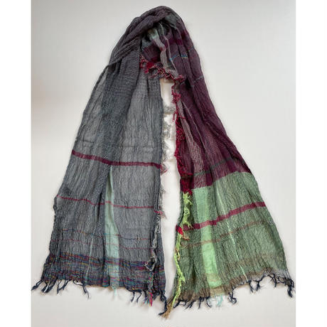tamaki niime  roots shawl MIDDLE cotton  C.パープル×ミント系