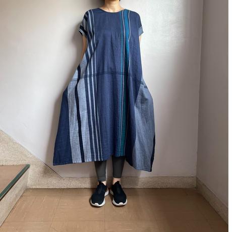tamaki niime   only one fuwa-T long  cotton 100%   Cネイビー系