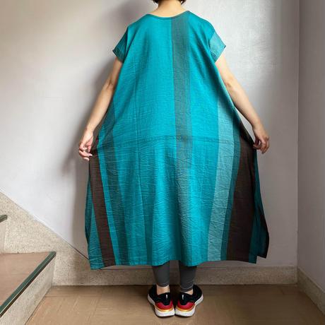 tamaki niime   only one fuwa-T long  cotton 100%   Bブルー系
