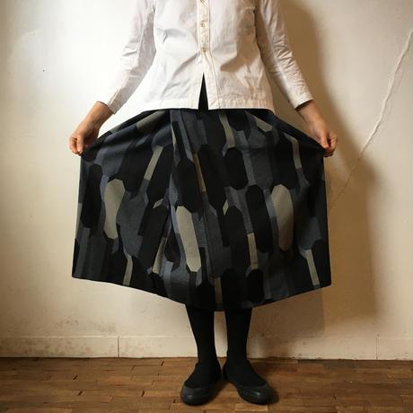 プリントスカート ブラック