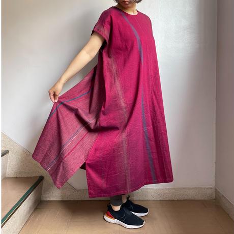 tamaki niime   only one fuwa-T long  cotton 100%       Aレッド系