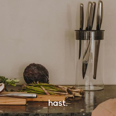 【hast. エディション】ガラスナイフブロック