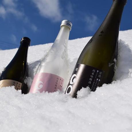 津南から雪と日本酒を詰めてお届け!「GO&雪(ごうせつ)セット」津南の雪+GOシリーズ720ml x3本