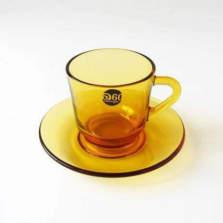 アデリア60 コーヒー カップ&ソーサー アンバー