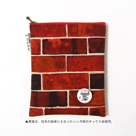 神保町 ラドリオ ポーチ〘縦型〙 ナポリタンオレンジ × タバスコファスナー