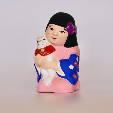 猫抱き少女人形