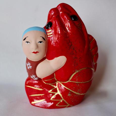 海老抱き人形