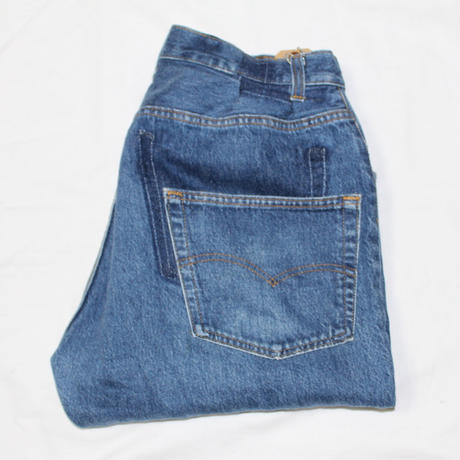 KNIFEWING USA 501 TUCK TAPERED WIDE PANTS  BLUE M ⑤