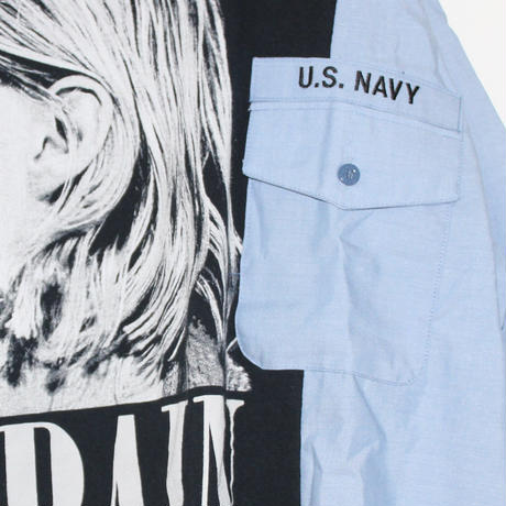 KNIFEWING US NAVY BAND TEE / KURT COBAIN