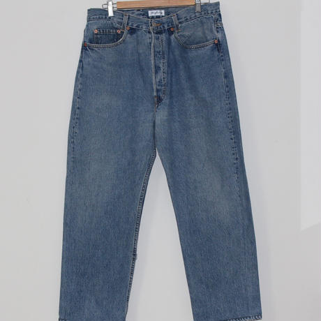 KNIFEWING USA 501 TUCK TAPERED WIDE PANTS 2 BLUE M①