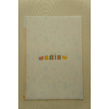 mizutama A4クリアファイル(3ポケット)ブック柄