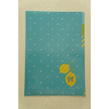 mizutama A4クリアファイル(3ポケット)レモン柄