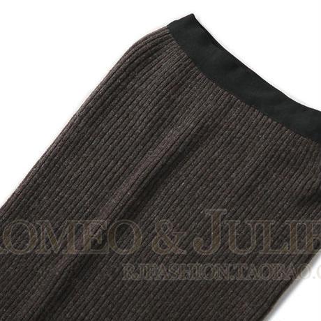 ROMEO&JULIET セレブ風 レディース Uネックニット&ニットペンシルスカート セットアップ コーディネート