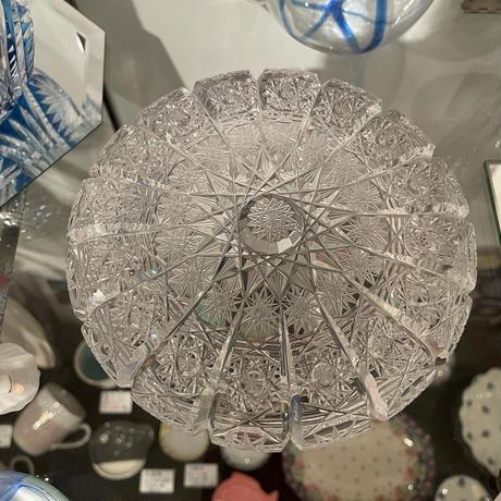 クリスタル灰皿 チェコ スロバキア クリスタル 灰皿