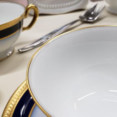 大倉陶園 瑠璃片葉金蝕 ティー・コーヒー碗皿 1客