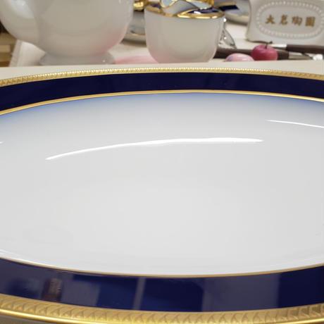 大倉陶園 瑠璃片葉金蝕 38cmプラター 1枚