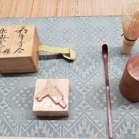 坂田泥華氏(13代)作 香合 うまの絵  萩焼 一品作