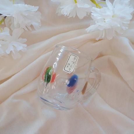 手づくりガラス マグカップ カラー入り