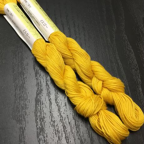 mederu刺し子糸 黄色、グリーン系