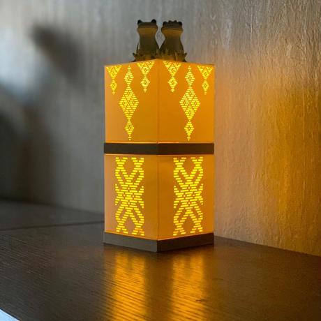 光るこぎんランプシェード完成品 シャンデリア