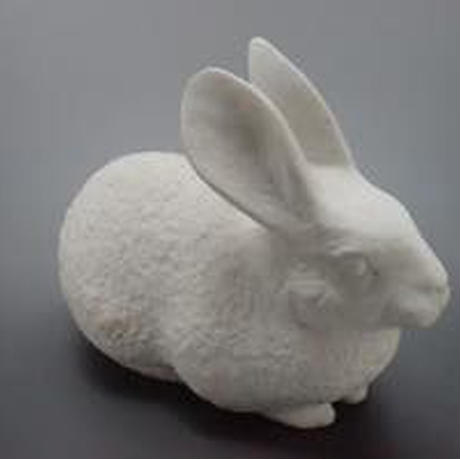 【彫刻】大理石ウサギのオブジェ