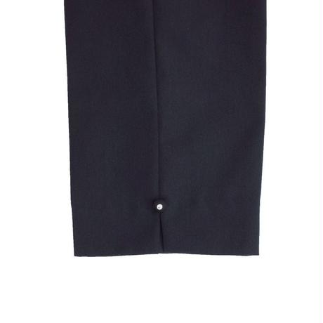 オリジナルJOHN ANKLE SLIT TROUSERS BLACK