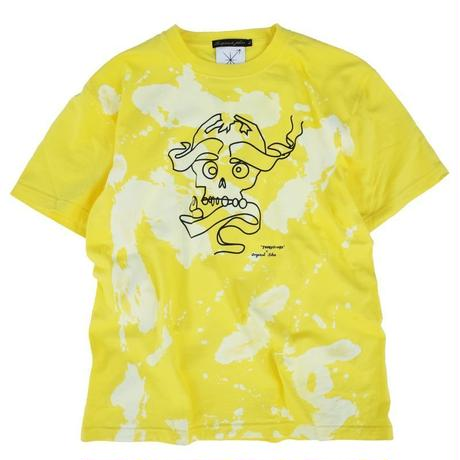 オリジナルJOHN Tears of swan × Original John BLEACHED SKULL-T YELLOW