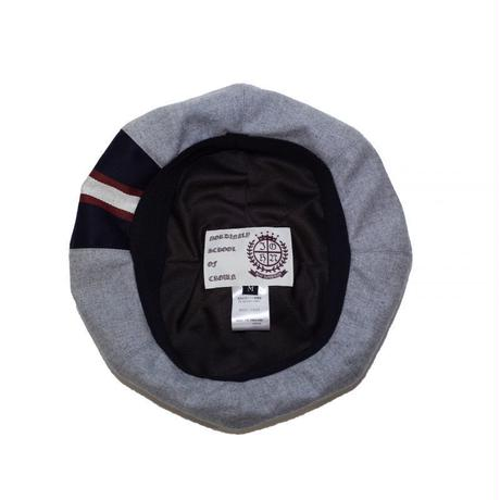 オリジナルJOHN 8 PANELS BERET GREY-STRIPE