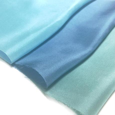 染正絹羽二重8匁 青の色彩3色セット約20cm×約22cm (3色×各1枚)