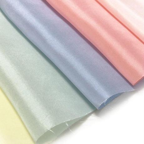 染正絹羽二重10匁 アイスカラー 5色セット約20cm×約44cm (5色×各1枚)