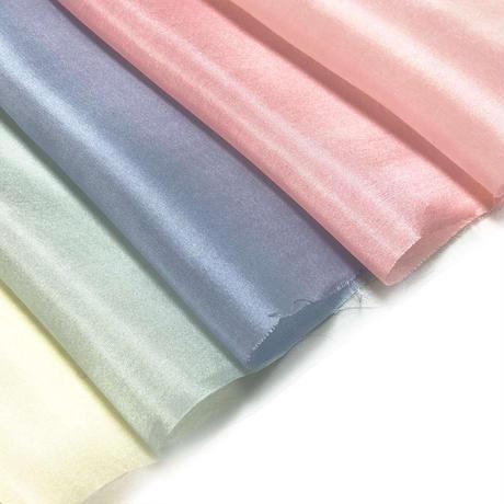 染正絹羽二重6匁 アイスカラー 5色セット約20cm×約22cm (5色×各1枚)