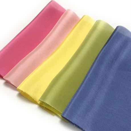 染正絹羽二重10匁 はなごころ 5色セット約20cm×約22cm (5色×各1枚)