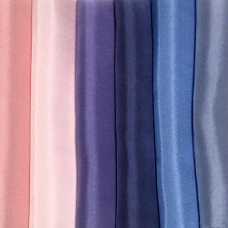 染正絹羽二重10匁 全18色セット約20cm×約22cm (18色×各1枚)