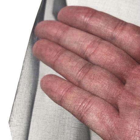 正絹オーガンジー 黒 固糊 巾約48cm×長さ約48cm