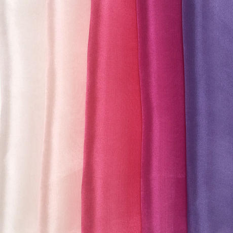 染正絹羽二重6匁 はなあかり5色セット約20cm×約22cm (5色×各1枚)