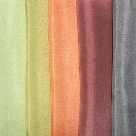 染正絹羽二重10匁 古都の色彩 5色セット約20cm×約44cm (5色×各1枚)