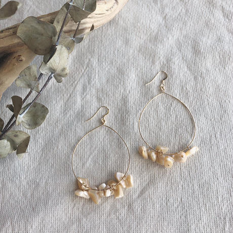 Hoop Shell  Earrings
