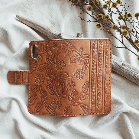 Floral Leather iPhone Case